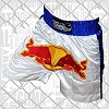 FIGHTERS - Shorts de Muay Thai / Red Bull / Blanc-Bleu