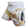 FIGHTERS - Muay Thai Shorts / Weiss-Gold