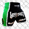 FIGHTERS - Thaibox Shorts / Elite Muay Thai / Schwarz-Grün / Medium