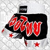 FIGHTERS - Muay Thai Shorts / Schwarz-Weiss