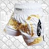 FIGHTERS - Pantaloncini Muay Thai / Bianco-Oro