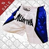 FIGHTERS - Muay Thai Shorts / White-Blue