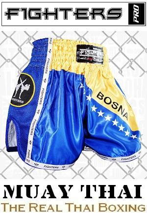 FIGHTERS - Muay Thai Shorts / Elite / Bosnien-Bosna / XS