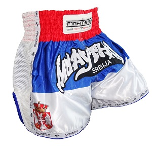 FIGHTERS - Muay Thai Shorts / Serbien-Srbija / Elite / XS