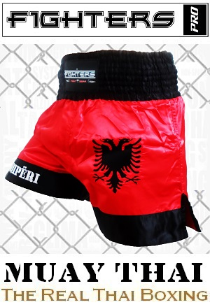 FIGHTERS - Muay Thai Shorts / Albanien-Shqipëri / XL