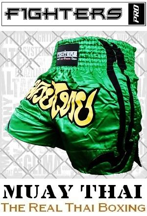 FIGHTERS - Muay Thai Shorts / Grün / Medium
