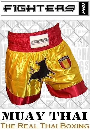 FIGHTERS - Shorts de Muay Thai / Espagne / Medium