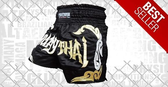 FIGHTERS - Muay Thai Shorts / Schwarz-Gold