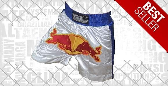 FIGHTERS - Muay Thai Shorts / Red Bull / Weiss-Blau